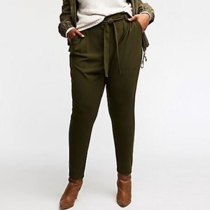 PLUS Size Tie Front Pants